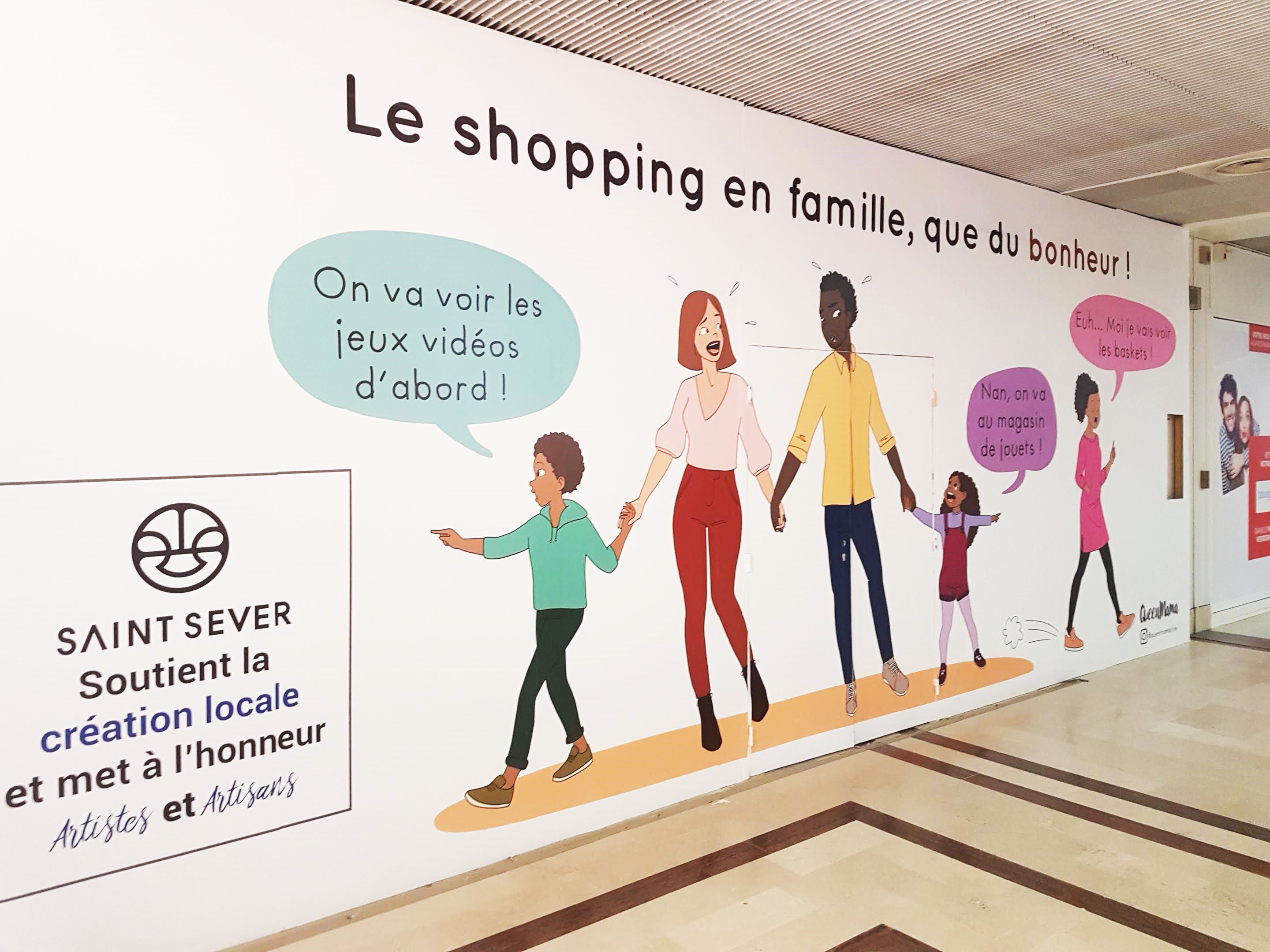 shopping famille rouen saint sever queenmama illustration